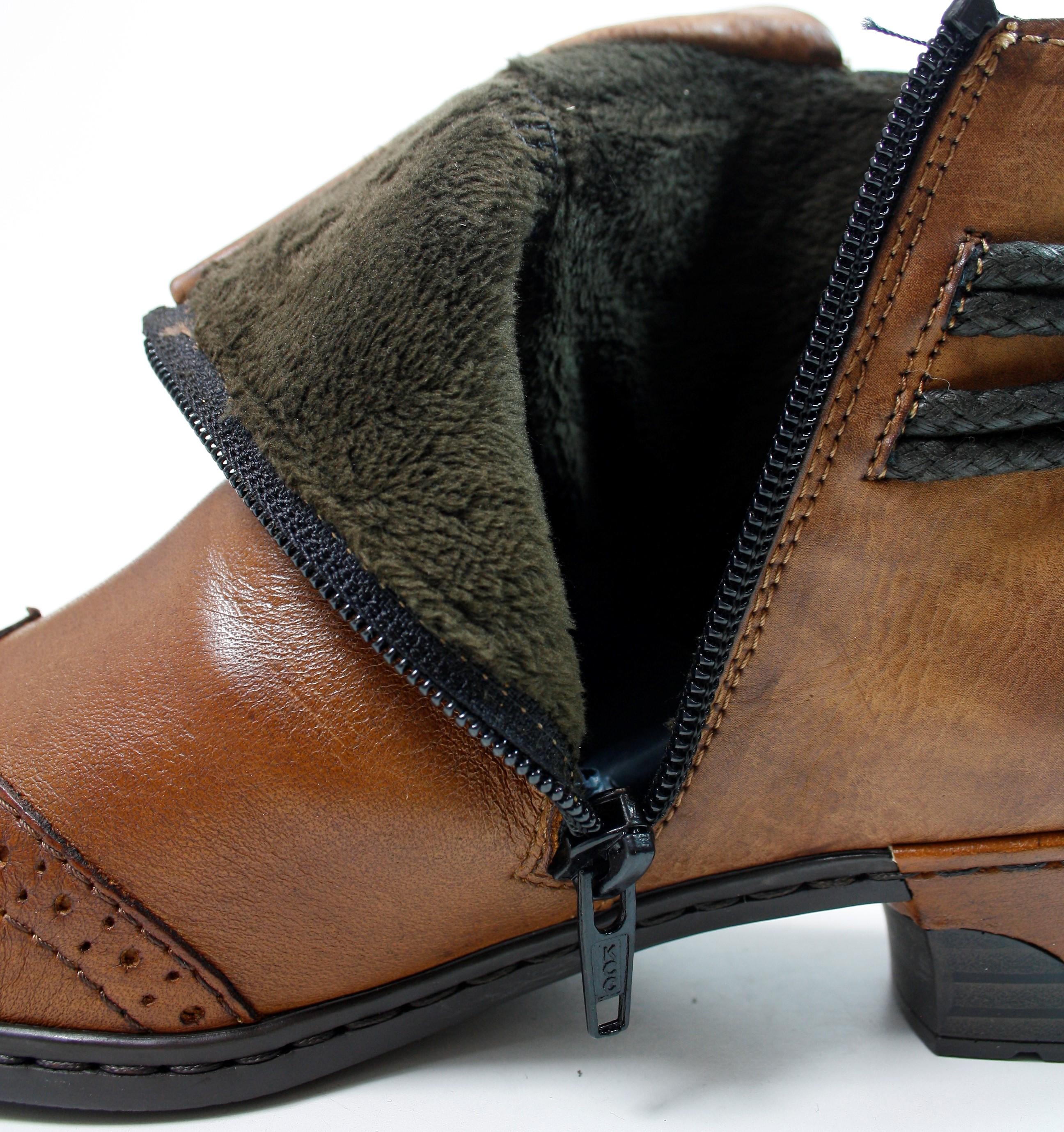 1a1c78e8731f7 RIEKER LADIES BROWN ANKLE BOOTS - 121 Shoes
