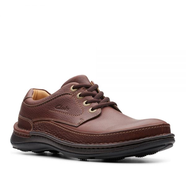 Clarks Nature Three Mahogany Leather