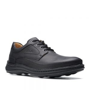 Clarks Nature Three Black Leather. Premium Shoes