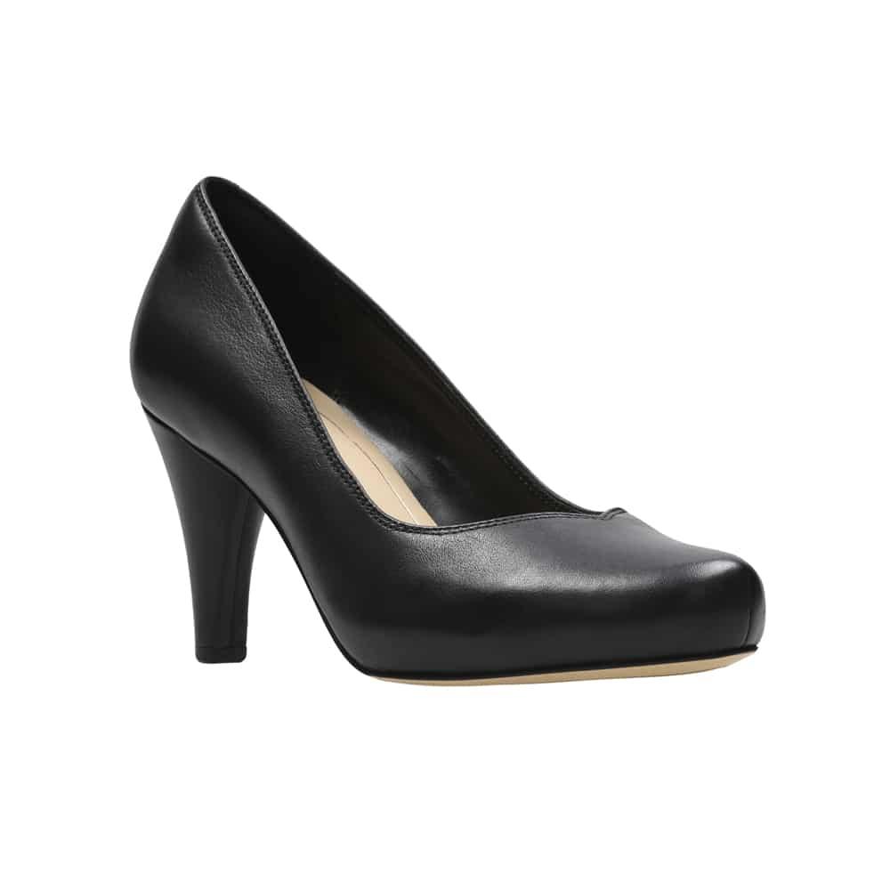 Clarks Dalia Rose Black Leaher - 121 Shoes