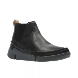 Clarks Tri Poppy - Women's ankle boots in black leather.