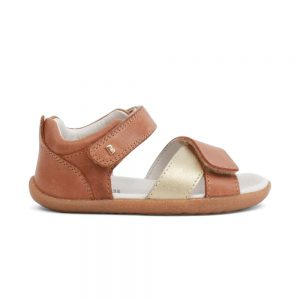 Girls Sail Caramel and misty gold sandals