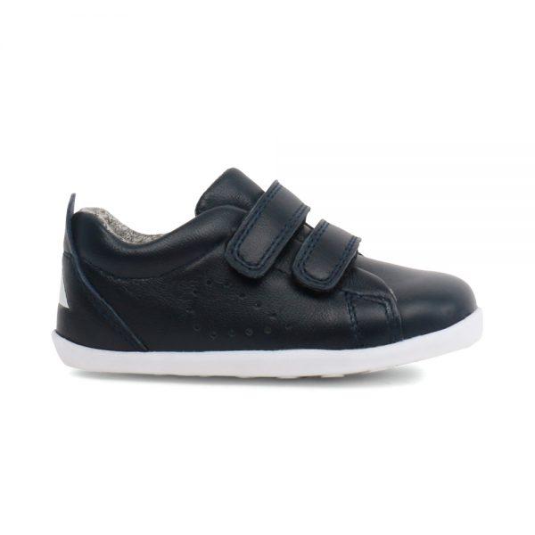 Bobux Grass Court Navy, unisex kids shoes