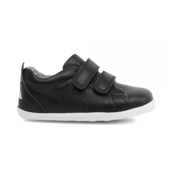 Bobux Grass Court Black, unisex kids shoes