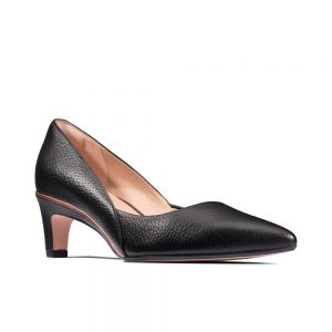 Clarks Ellis Rose, women's court shoes, black leather