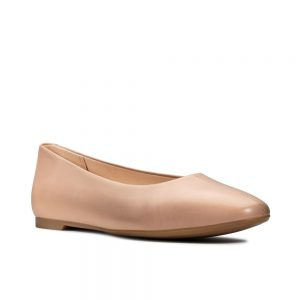 Clarks Chia Violet, women's shoes. Praline Leather