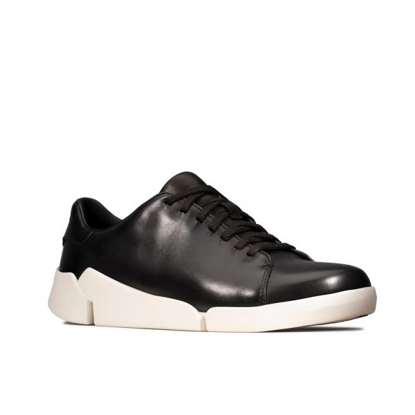Clarks Tri Abby Black leather women's casual shoes