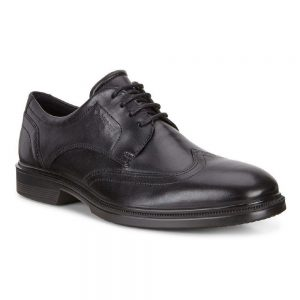 Ecco Lisbon, Elegant formal shoes made from black leather.