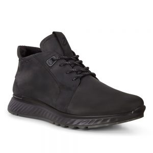 Ecco ST1 m Black. Street-smart men's sneaker style shoe.