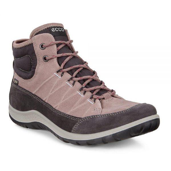 Ecco Aspina. Nubuck leather womens hiking shoes