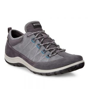 Ecco Aspina. Nubuck leather womens hiking shoes.