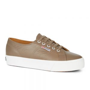 Superga 2730 Nappa Lea. Mushroom Nappa Leather upper