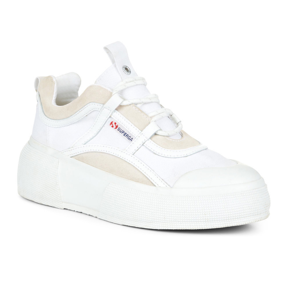 Superga 2922 Hyper Bubble Cotsuew Womens White Platform Trainers