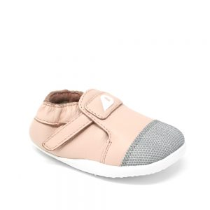 The Bobux Xplorer Origin Arctic Seashell Pink. Suitable for first-walkers.