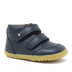 Bobux SU Timber. Navy Step Up. Best shoes for growing feet.