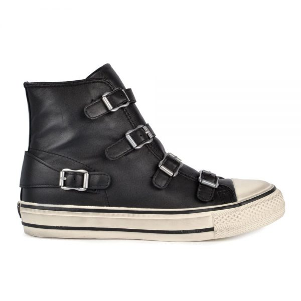 The Ash Virgin. Stylish shoes made from black leather.