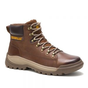 CAT Brawn Pelican Leather Casual Boots