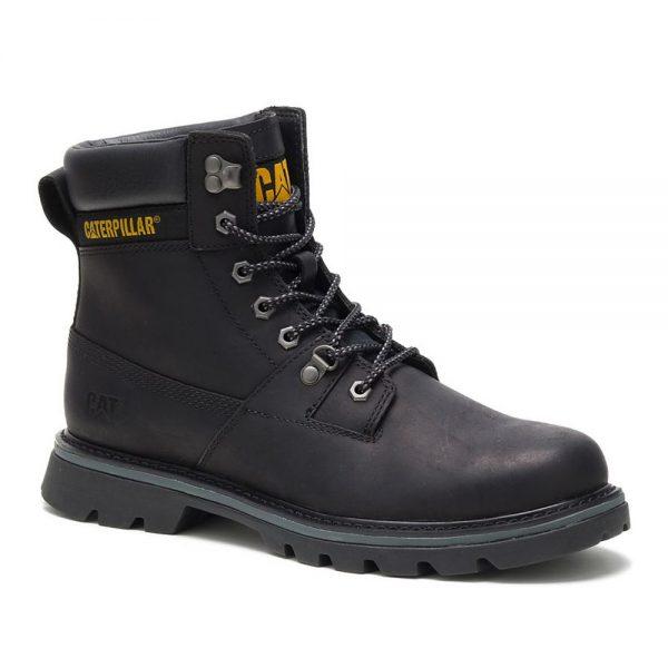 Cat Ryman full-grain black leather boot