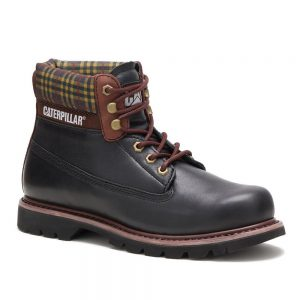 CAT Colorado Black Full-Grain Premuim Leather Boot