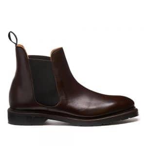 Solovair Ebony Chelsea Boot. Upper made from premium leathe