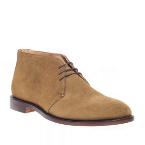 NPS Russell Fawn Suede Chukka Boot. Upper made from suede.