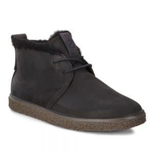 Ecco Crepetray Black Teardrop.Premium casual shoes.