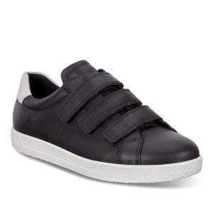 Ecco Soft 1.Premium Black Leather shoes.