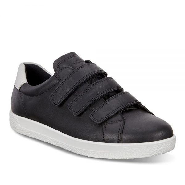 Ecco Soft 1.Premium Black Leather shoes.