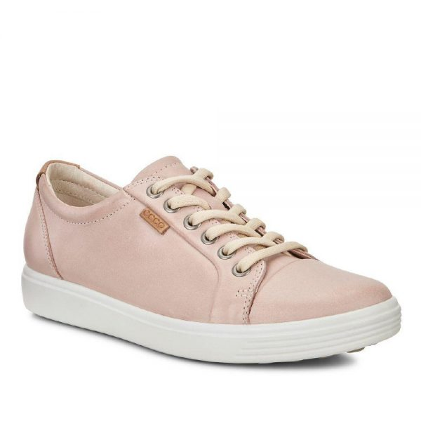 Ecco Soft 7. Premium pink leather shoes.