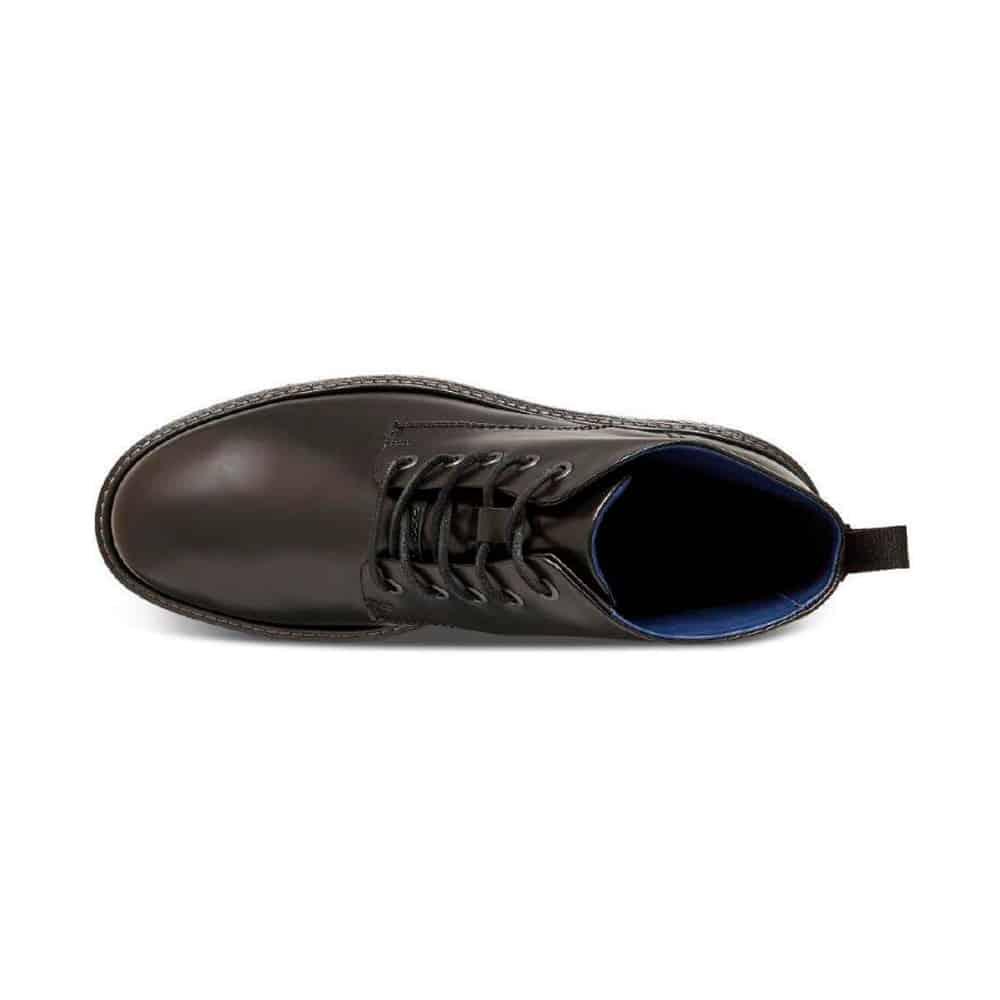 Ecco Lhasa Premium Black Leather Shoes
