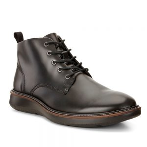 Ecco Lhasa. Premium Black Leather shoes