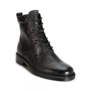 Ecco Newcastle. Premium black leather shoes