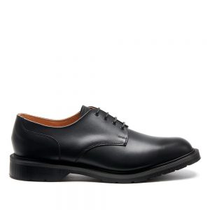SOLOVAIR Black 4 Eye Gibson Shoe. Upper made from quality leather