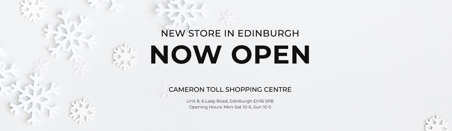 New 121 Shop open Now in Edinburgh