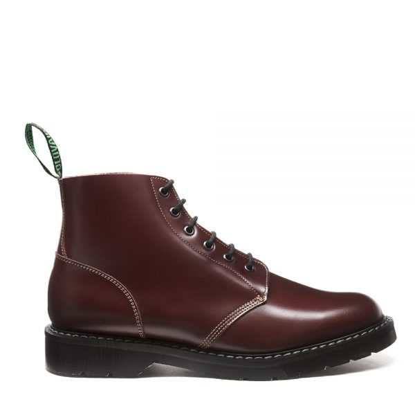 SOLOVAIR Oxblood Hi-Shine 6 Eye Astronaut Boot. Quality leather.