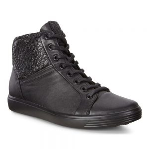 Ecco Soft 7 Black Droid Celadon. Premium shoes