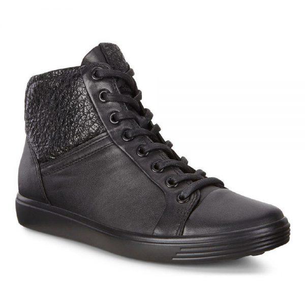 Ecco Soft 7 Black Droid Celadon. Premium shoes