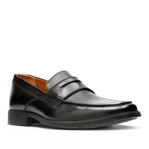 Clarks Tilden Way Black Leather. Premium Shoes