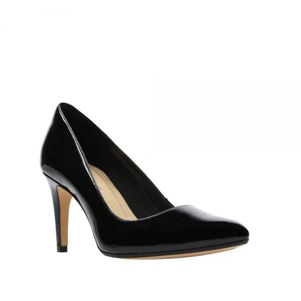 Clarks Laina Rae Black Patent. Premium Shoes