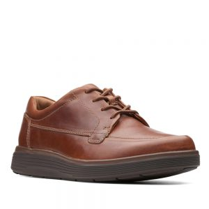 Clarks Un Abode Ease Dark Tan Leather.