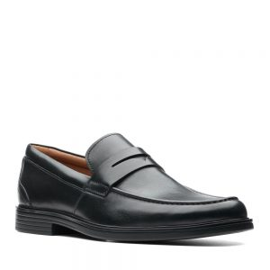 Clarks Un Aldric Step Black. Premium Shoes