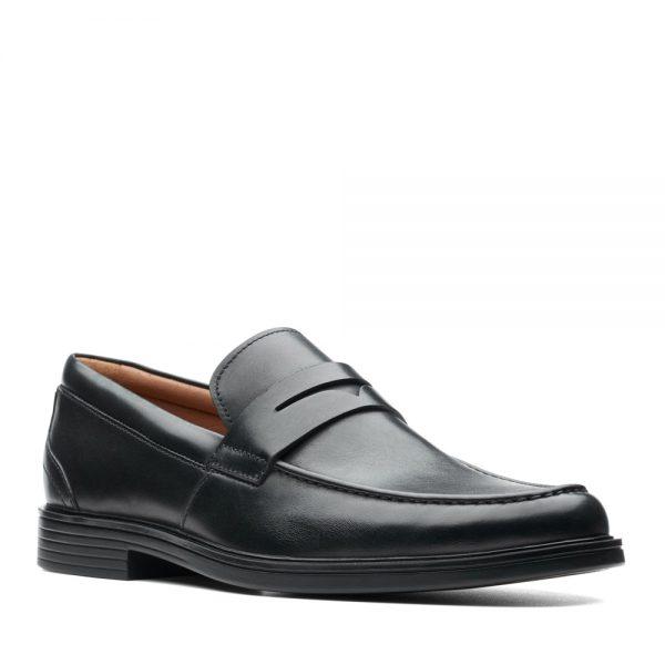 Clarks Un Aldric Step Black. Premium Shoes