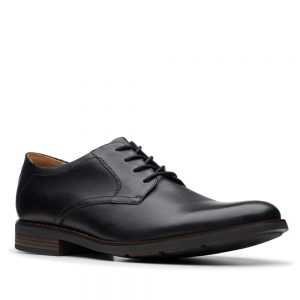 Clarks Becken Lace Black Leather. Premium Shoes