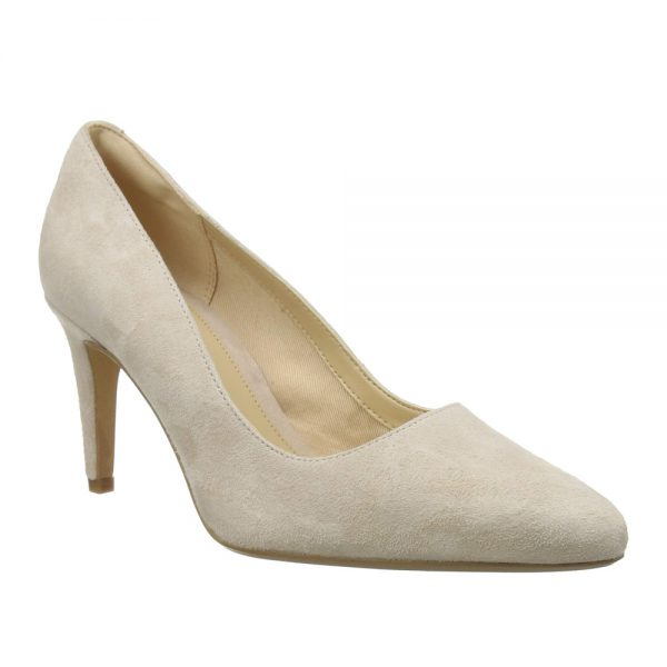 Clarks Laina Rae Blush Suede. Premium Shoes.