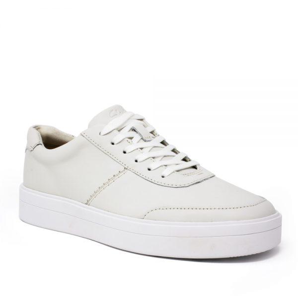Clarks Hero Walk White Leather. Premium Shoes