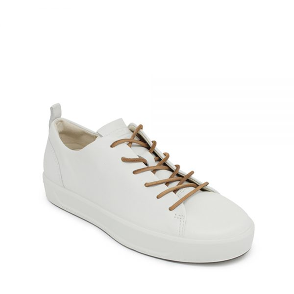 Ecco Soft 8 W White. Premium Leather shoes