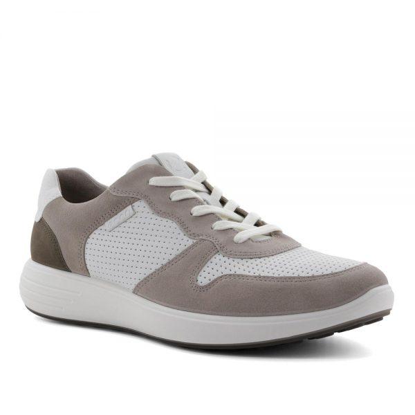 Ecco Soft 7 Runner M Moonrock/White. Premium Shoes