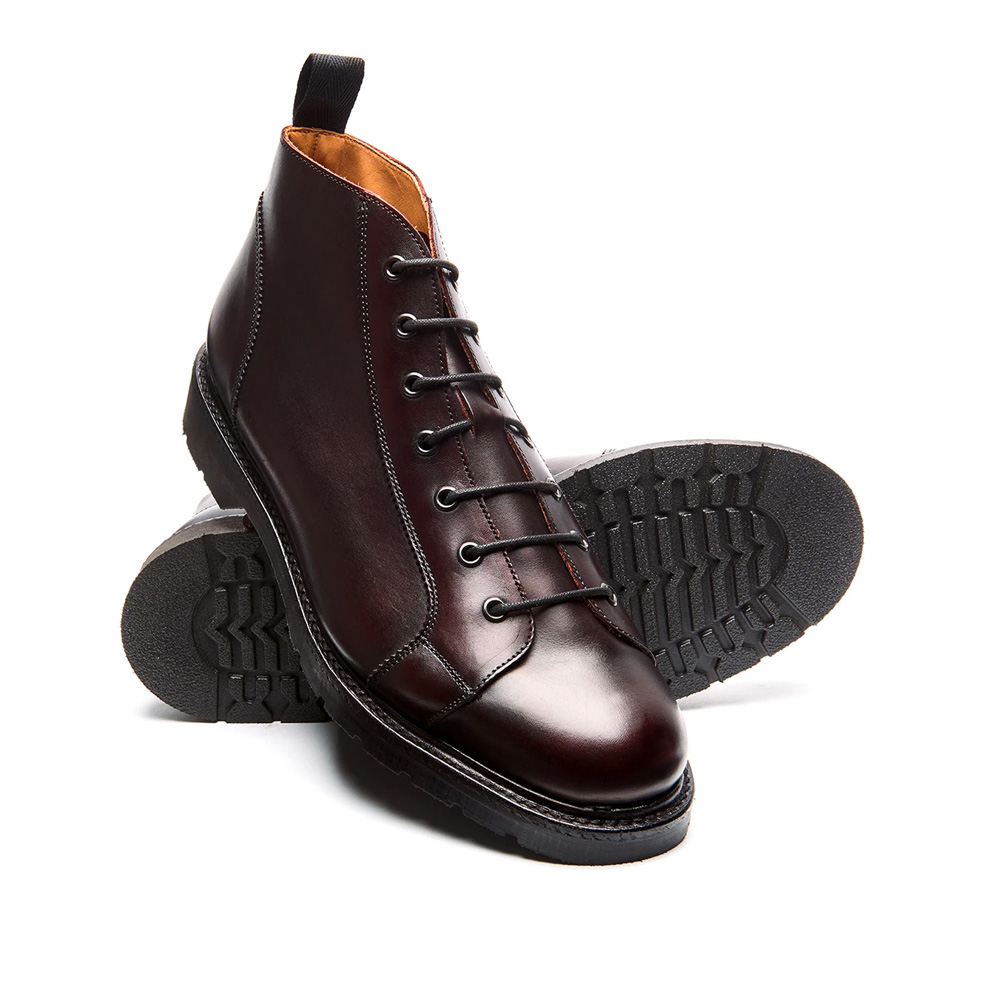 Solovair Burgundy Monkey Boot Quality