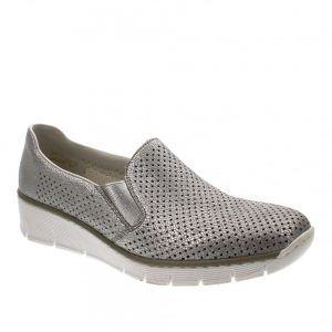 Rieker 53775-81 Silver. Premium Women's Shoes