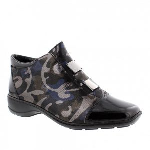 Rieker 58398-00 Black Combination. Stylish Shoes
